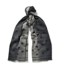 Paul Smith | Black Polka-dot Dégradé Wool Scarf for Men | Lyst