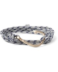 Miansai | Gray Cord And Gold-plated Hook Wrap Bracelet | Lyst