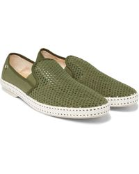 Rivieras   Green Canvas And Cotton-mesh Espadrilles for Men   Lyst
