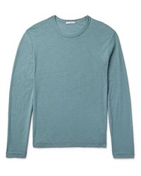 James Perse - Green Slub Cotton-jersey T-shirt for Men - Lyst