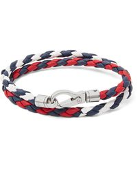 Tod's | Red Woven Leather Wrap Bracelet for Men | Lyst