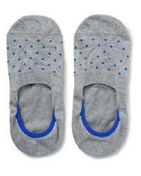 Pantherella | Gray Polka-dot Stretch-egyptian Cotton No-show Socks for Men | Lyst