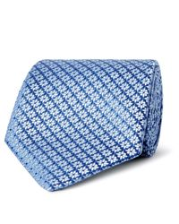 Charvet | Blue 8.5cm Floral Silk-jacquard Tie for Men | Lyst
