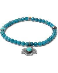 Peyote Bird | Blue Lapis, Turquoise And Sterling Silver Bracelet for Men | Lyst