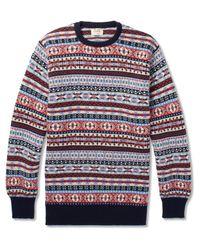 William Lockie - Blue Fair Isle Cashmere Sweater for Men - Lyst