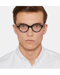 Cutler & Gross - Black Round-frame Acetate Optical Glasses for Men - Lyst