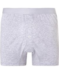 Handvaerk - Gray Pima Cotton-jersey Boxer Briefs for Men - Lyst