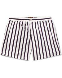 Tod's - Blue Short-length Striped Swim Shorts for Men - Lyst