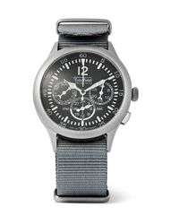 Techne - Gray Merlin 296 Stainless Steel And Webbing Watch for Men - Lyst