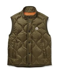 Moncler - Green Canut Quilted Shell Down Gilet for Men - Lyst