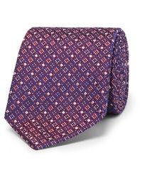 Turnbull & Asser - Purple 8cm Silk-jacquard Tie for Men - Lyst
