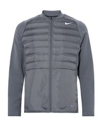 Nike Gray Aeroloft Hyperadapt Tech-jersey And Quilted Shell Golf Jacket for men