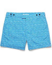 Frescobol Carioca - Blue Ondas Printed Mid-length Swim Shorts for Men - Lyst