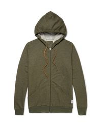 Paul Smith | Green Mélange Cotton-jersey Zip-up Hoodie for Men | Lyst