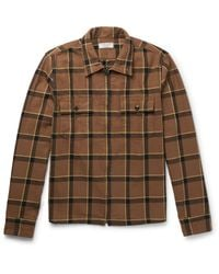 J.Crew - Brown Checked Cotton-flannel Jacket for Men - Lyst