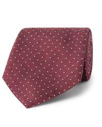 Hackett - Multicolor 8cm Pin-dot Silk And Linen-blend Tie for Men - Lyst