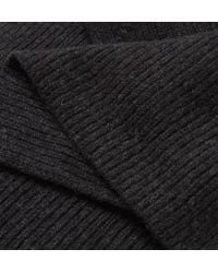 Anderson & Sheppard - Gray Ribbed Cashmere Scarf for Men - Lyst