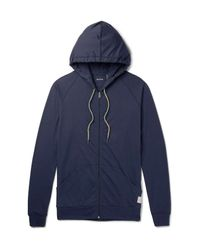 Paul Smith - Blue Slim-fit Cotton-jersey Zip-up Hoodie for Men - Lyst