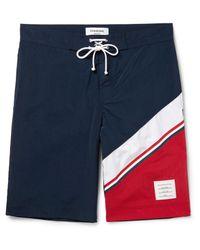 Thom Browne | Blue Long-length Colour-block Swim Shorts for Men | Lyst