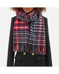 Mulberry | Red Large Check Lambswool Scarf | Lyst
