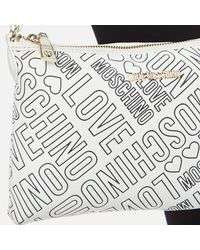 Love Moschino - Multicolor Love Printed Shoulder Clutch Bag - Lyst