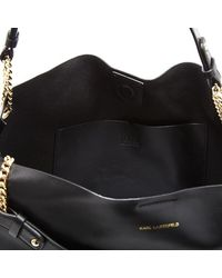 Karl Lagerfeld | Black Women's K/slouchy Shopper Bag | Lyst
