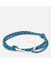 Miansai - Blue Rope Bracelet With Silver Hook for Men - Lyst