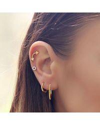 Missoma - Metallic Nexus Pyramid Hoop Earrings - Lyst