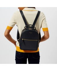 Aspinal Blue Mount Street Small Backpack