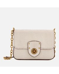 8b7d1cfdba Lauren by Ralph Lauren Millbrook Chain Cross Body Bag in Natural - Lyst
