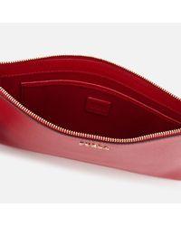 Furla - Red Babylon Xl Envelope Clutch Bag - Lyst
