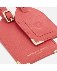 Aspinal Red Set Of Two Luggage Tags