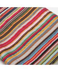 Paul Smith - Stripe Textured Scarf - Lyst