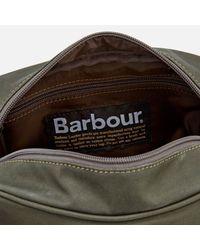Barbour - Green Drywax Wash Bag - Lyst