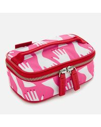 Lulu Guinness - Red Hug Print Mini Vanity Case - Lyst