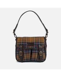Barbour - Black Tartan Mini Tarras Shoulder Bag - Lyst
