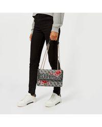 Guess - Multicolor Vikky Convertible Cross Body Flap Bag - Lyst