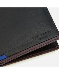 Ted Baker - Black Baldi Corner Detail Bifold Wallet for Men - Lyst
