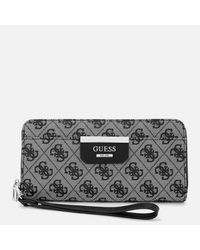 Guess - Multicolor Large Zip Around Wallet - Lyst