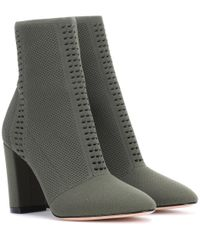 Gianvito Rossi - Green Exclusive To Mytheresa. Com – Thurlow Knitted Ankle Boots - Lyst