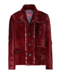 Prada - Red Calf Hair Jacket - Lyst