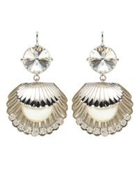 Miu Miu - Metallic Crystal-embellished Earrings - Lyst