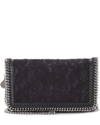 Stella McCartney - Black Falabella Lace Shoulder Bag - Lyst
