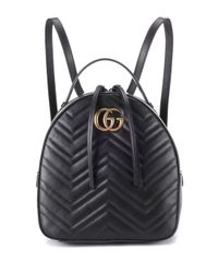 ce656c3c58f6 Lyst - Gucci GG Marmont Matelassé Leather Backpack in Black