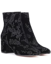 Gianvito Rossi - Black Exclusive To Mytheresa. Com– Margaux Velvet Ankle Boots - Lyst