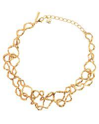 Oscar de la Renta - Metallic Collar Necklace - Lyst