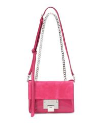 Jimmy Choo - Pink Rebel Soft Mini Suede Shoulder Bag - Lyst