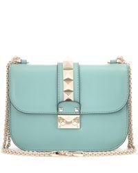 Valentino - Blue B-rockstud Smooth-leather Shoulder Bag - Lyst