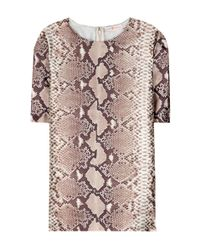 Tory Burch - Brown Printed Silk Top - Lyst