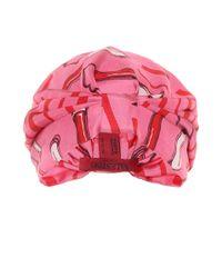 Valentino - Pink Printed Silk-satin Turban - Lyst